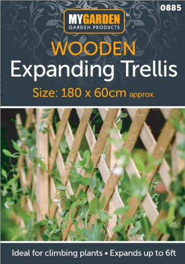 Expanding Natural Wooden Trellis Climbing Plants Fence Panel