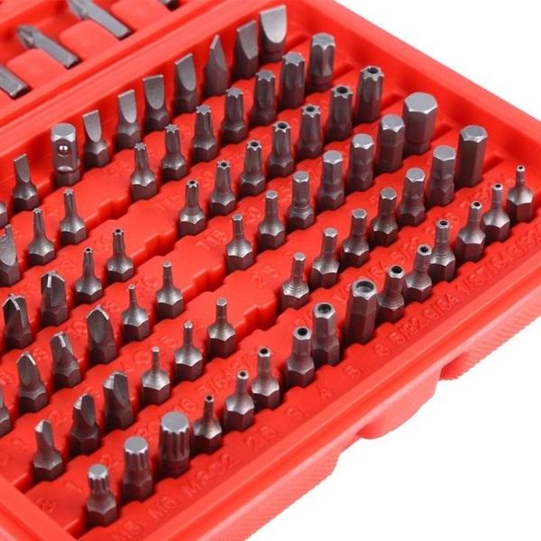 100pc Chrome Vanadium Assorted Screwdriver Socket Bit Set Pro Professional DIY