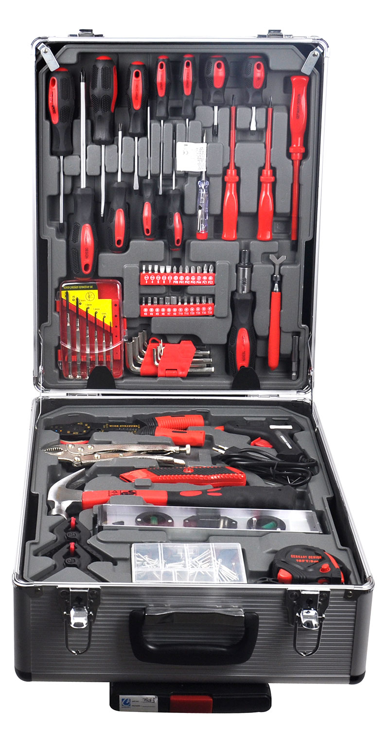 new 186pc tool kit toolkit set screwdriver socket ratchet aluminium trolley case ebay. Black Bedroom Furniture Sets. Home Design Ideas