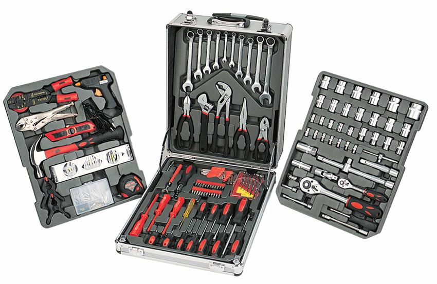 new 186pc tool kit toolkit set screwdriver socket ratchet aluminium trolley c. Black Bedroom Furniture Sets. Home Design Ideas