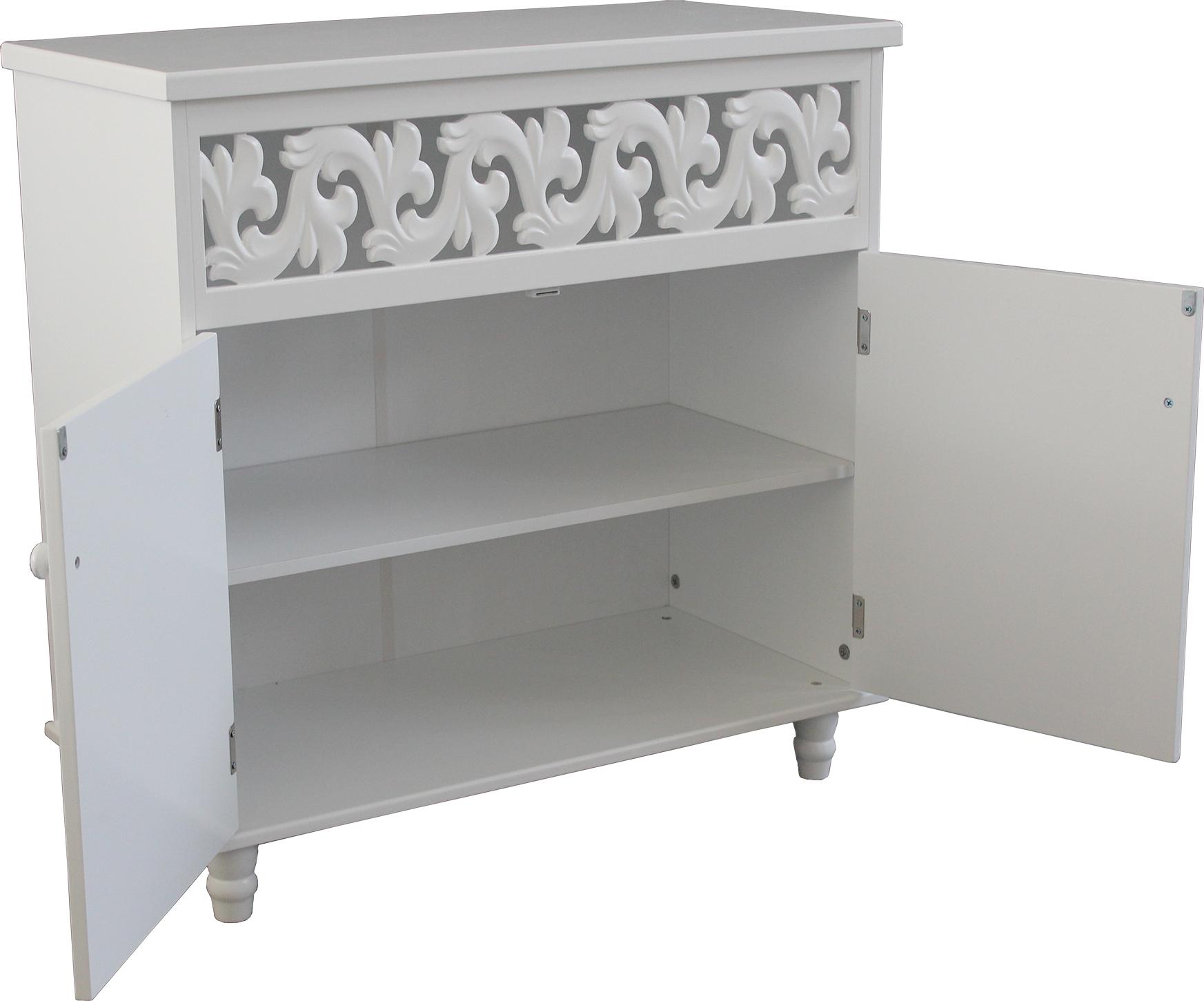 cupboard cabinet sideboard white wooden 2 doors furniture freestanding