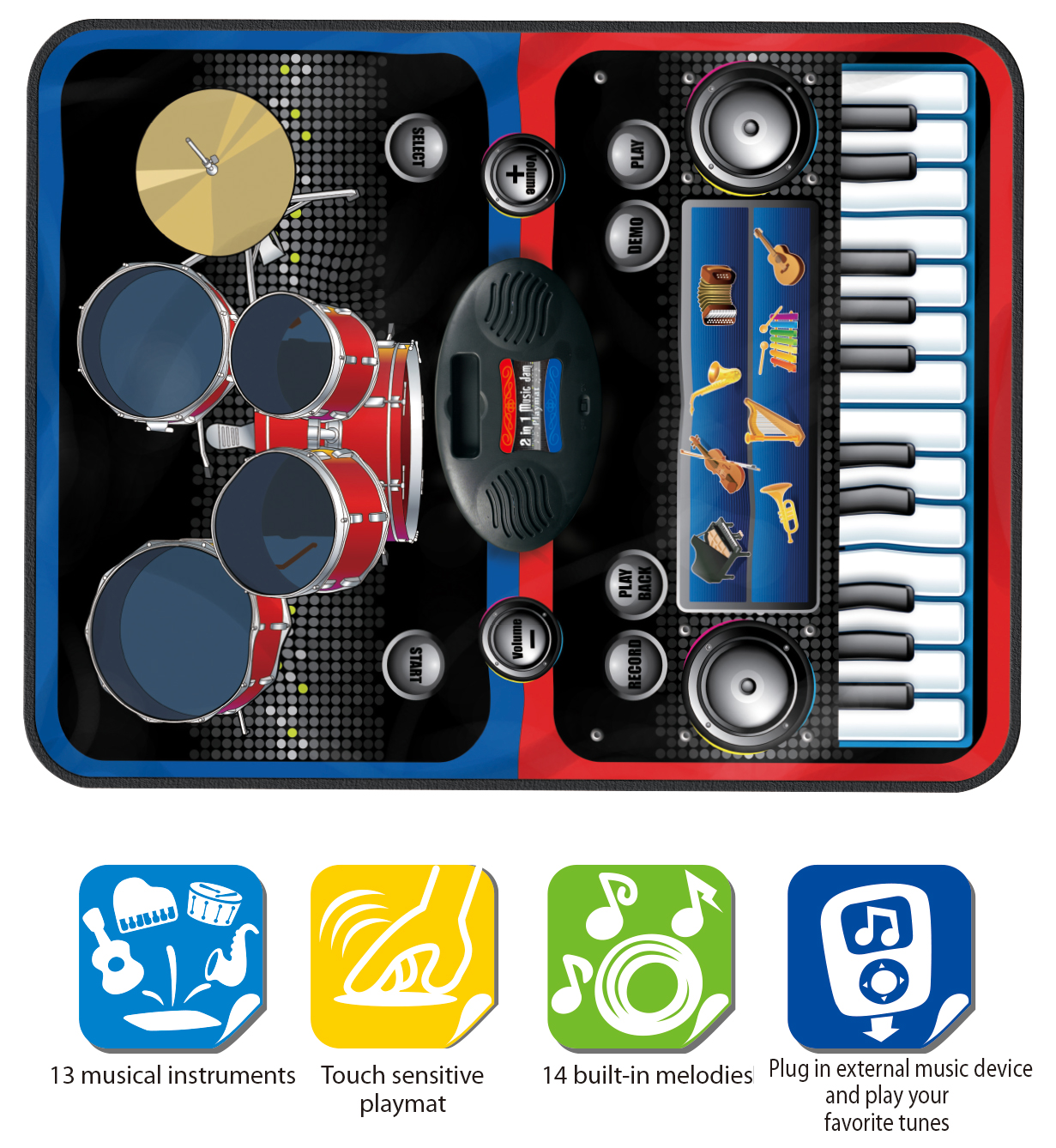 Giant Piano Keyboard Playmats For Party Dance Games Kids