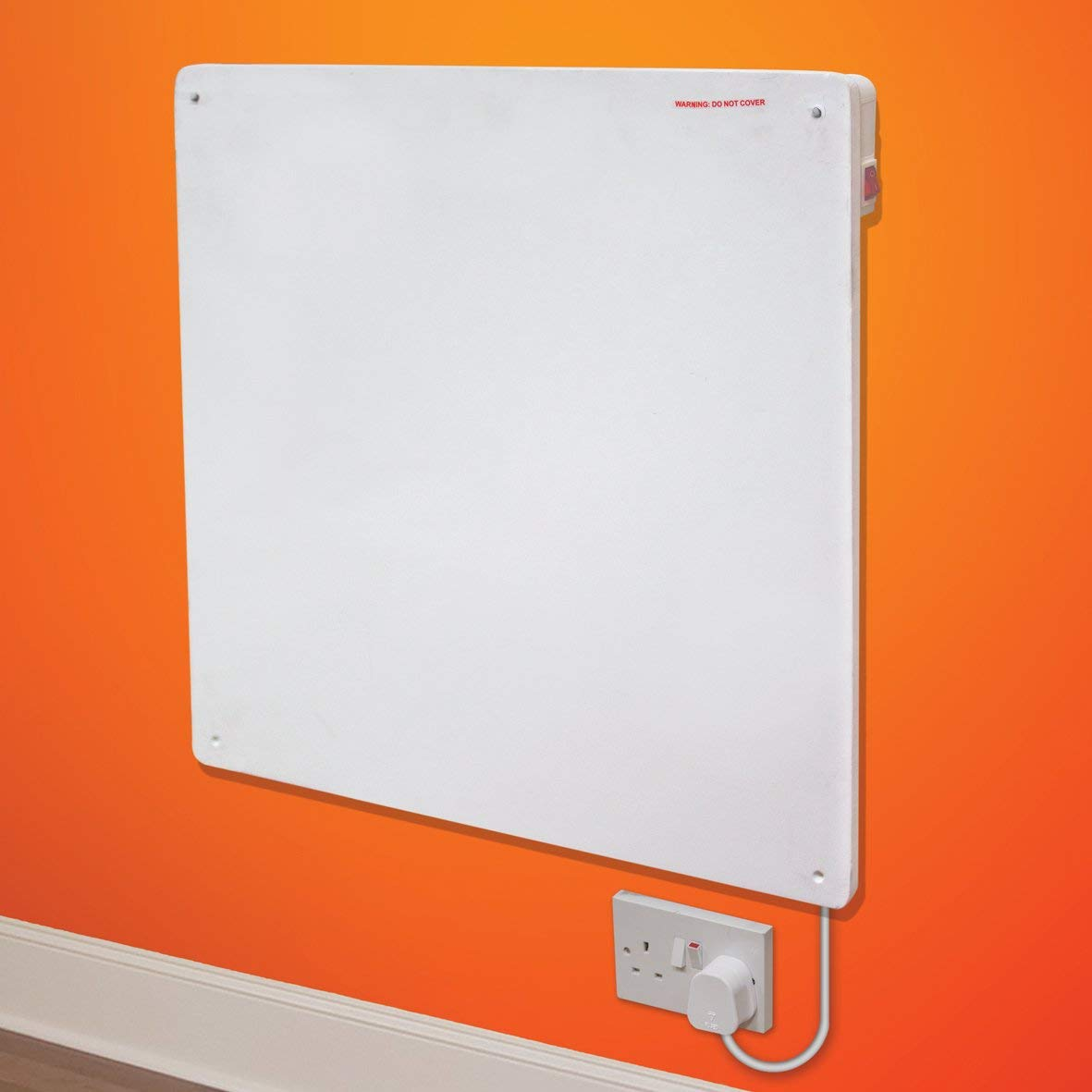 425w Slimline Wall Mounted Ceramic Panel Heater Low Energy