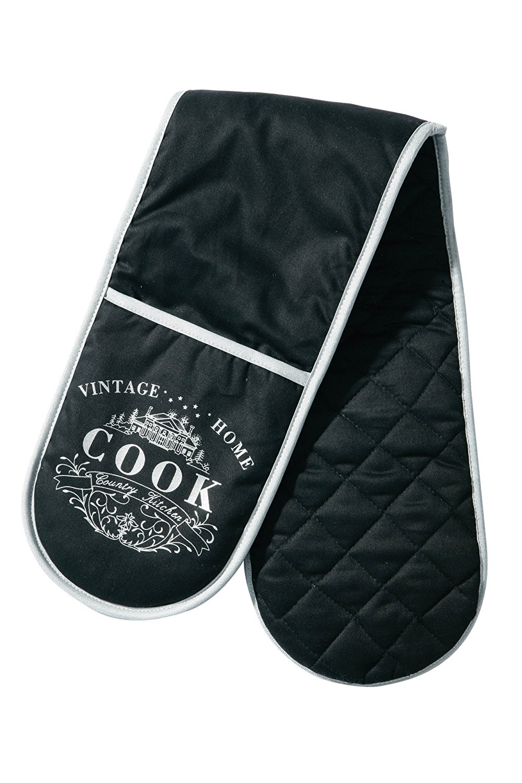 Double Oven Gloves Mitten Cotton Mitt Padded Heat Resistance Insulated Kitchen