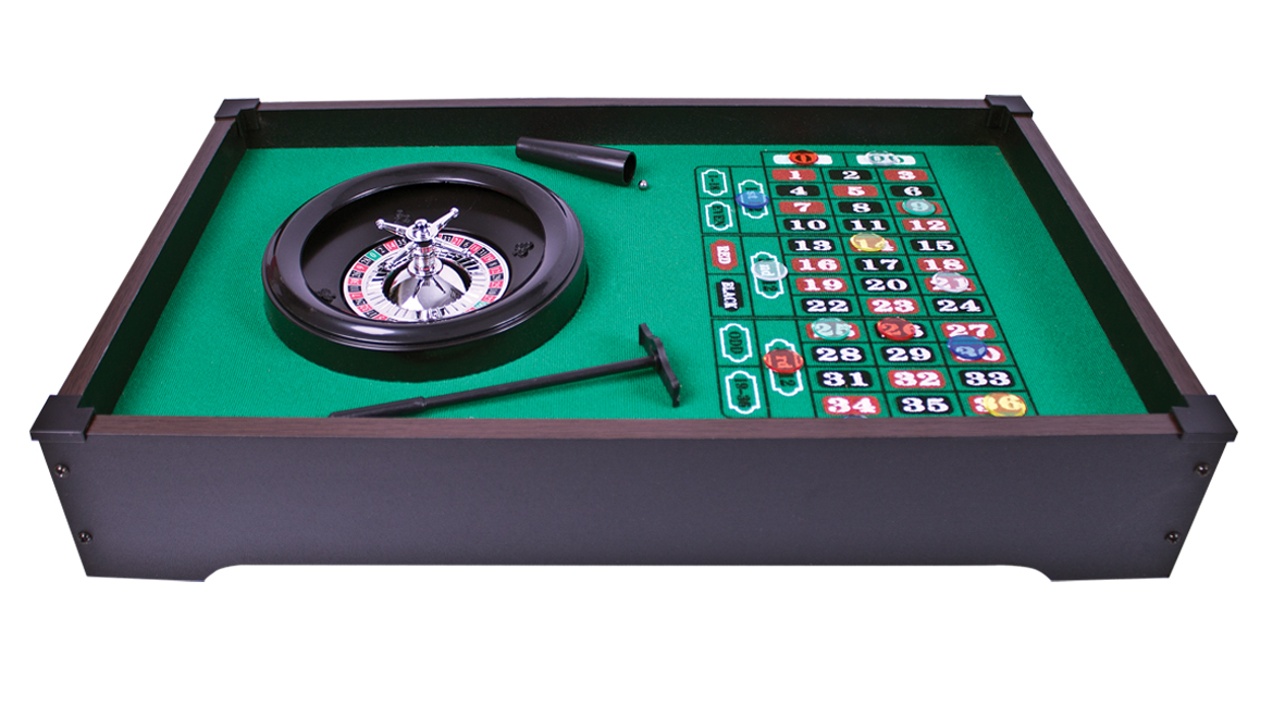 Table Top Roulette Wheel Set Home Casino Game Gambling