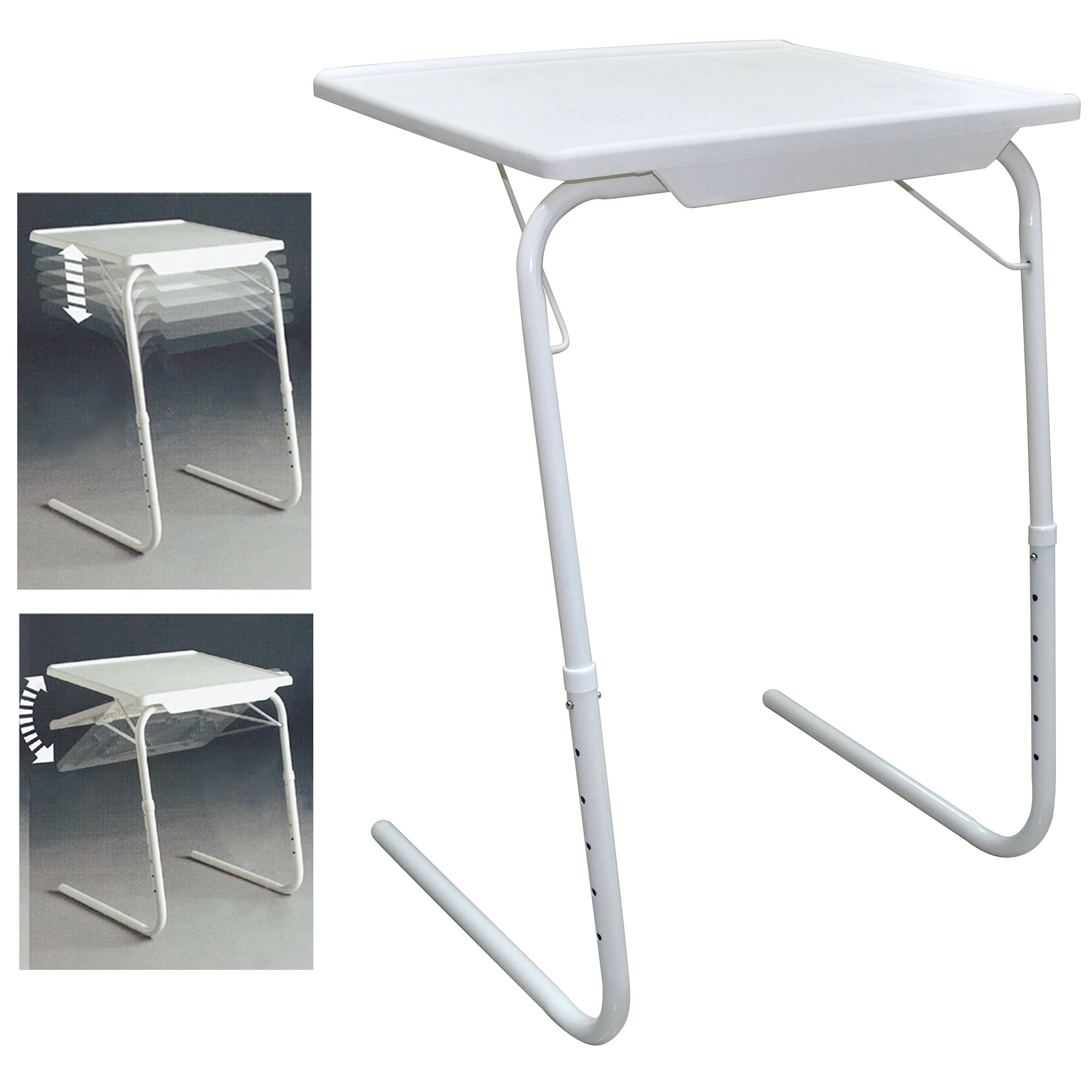 Adjustable Folding Table Tv Dinner Coffee Laptop Table