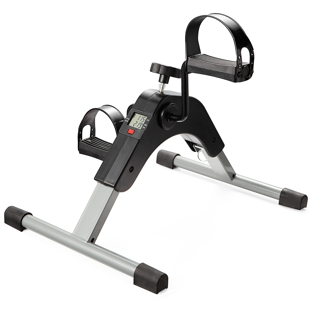 White Mini Pedal Exerciser Bike Fitness Cycle Leg//Arm Stationary Home Gym Rehab
