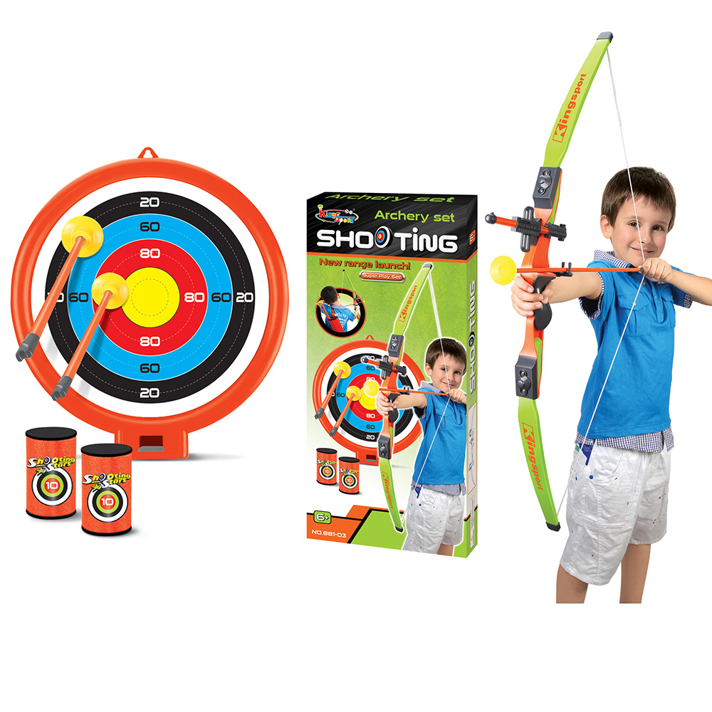 Target Toys For Big Boys : Archery bow and arrow set game with target arrows cans