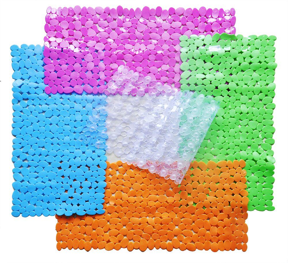 Large Pebble Shower Mat Bathroom Suction Anti Non Slip