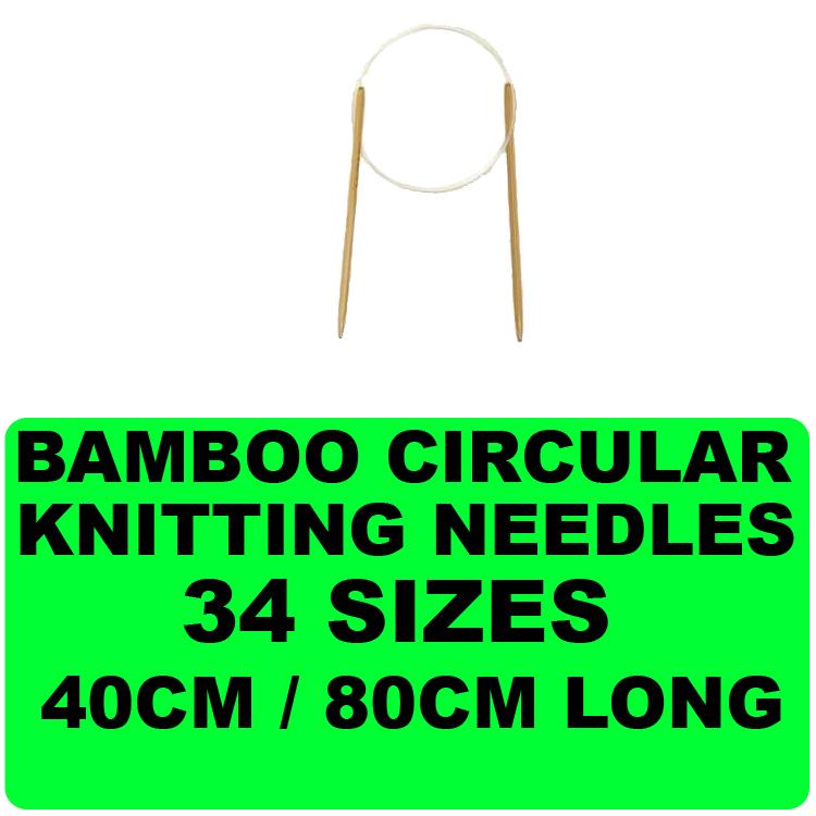 Circular Knitting Needle Sizes : New bamboo circular knitting needle sewing yarn various