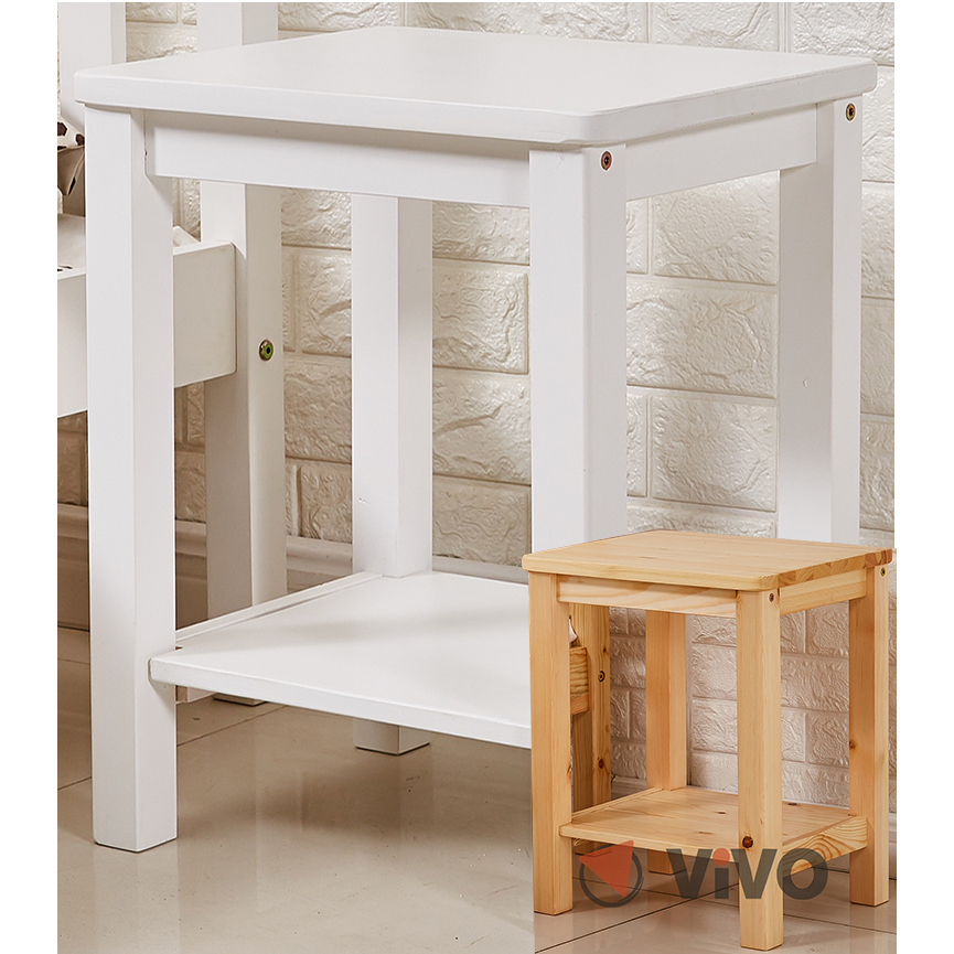 Bedside Table White / Pine Wood Cabinet Bedroom Sofa Side