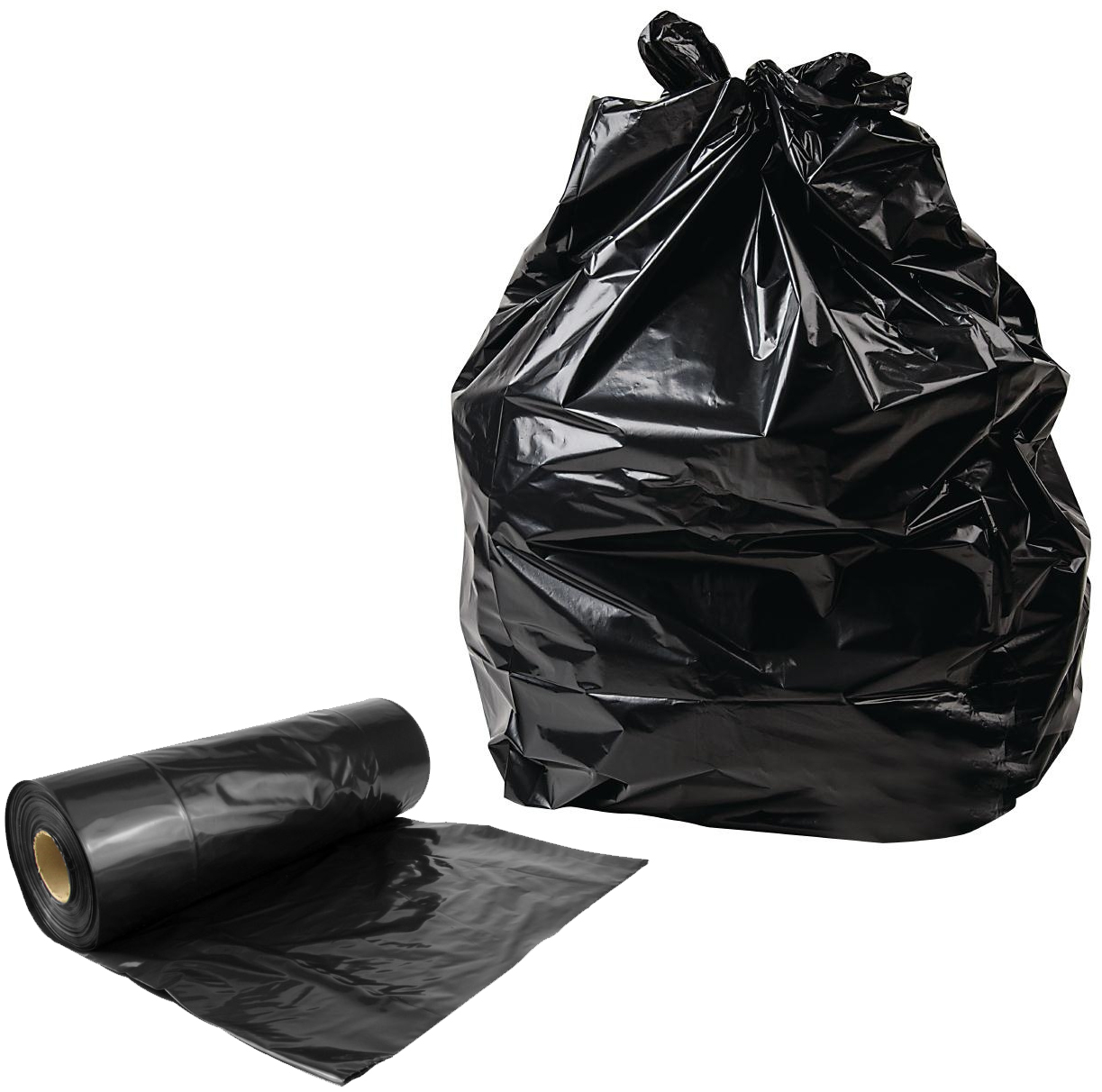 Strong black bin bags decorative l brackets