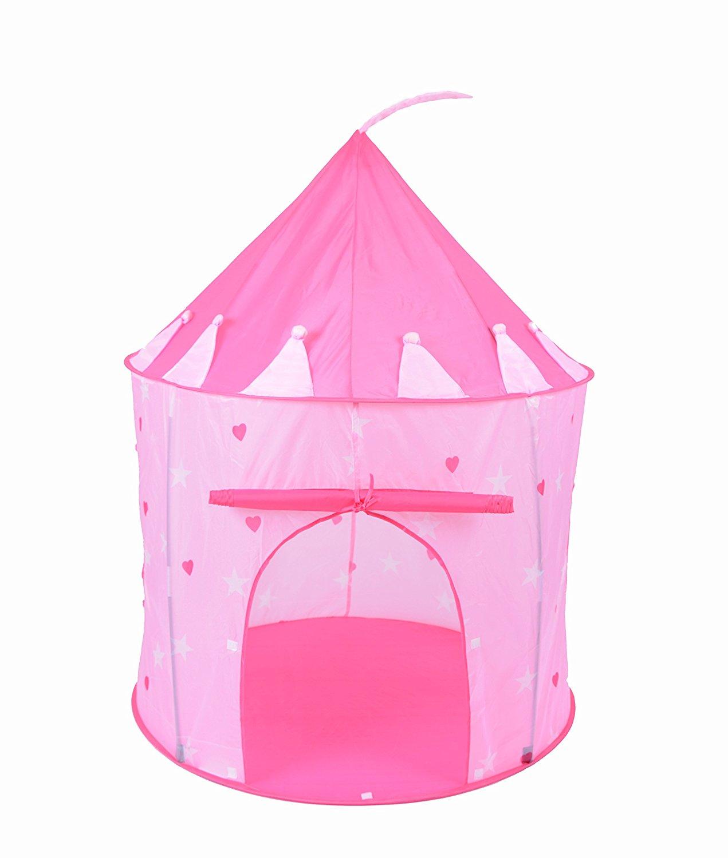 children 39 s pop up indoor outdoor unisex play tent playhouse den garden summer ebay. Black Bedroom Furniture Sets. Home Design Ideas