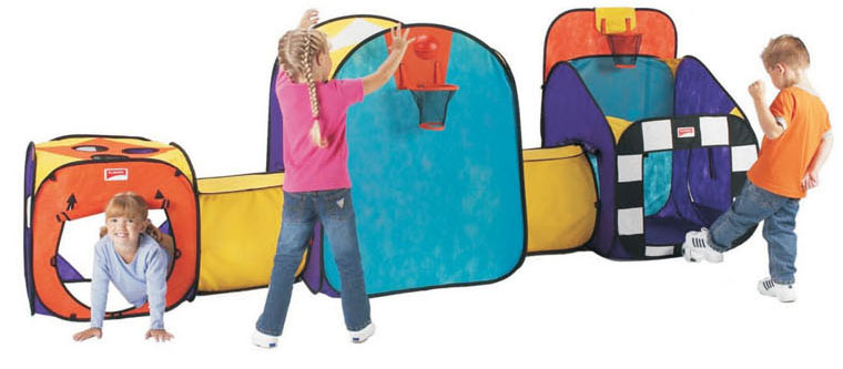 Extra Large Pop Up Tunnel And Tent Play System For