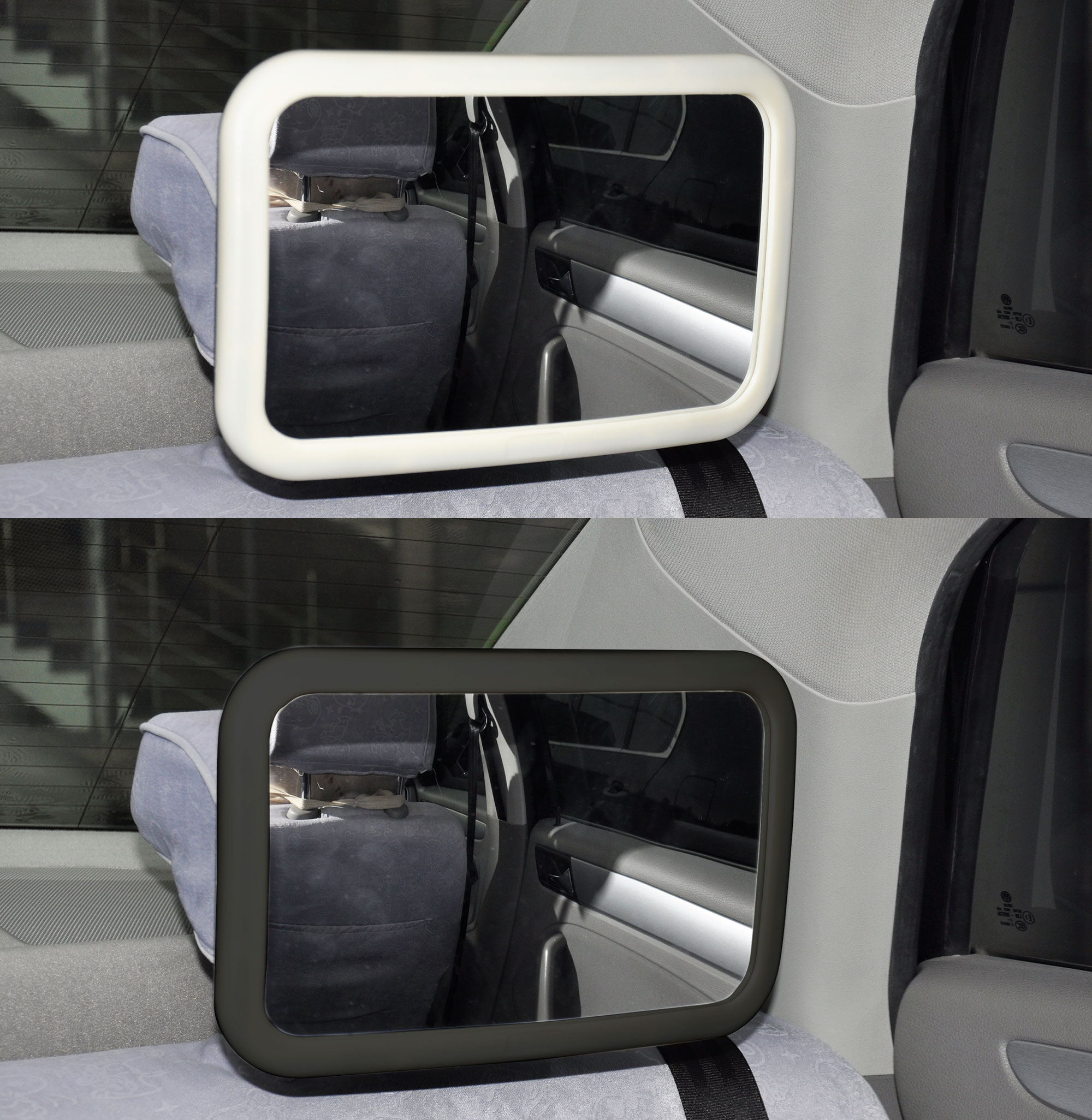 Baby Rear Car Seat Back Mirror Wide View Safety Headrest Mount Adjustable US