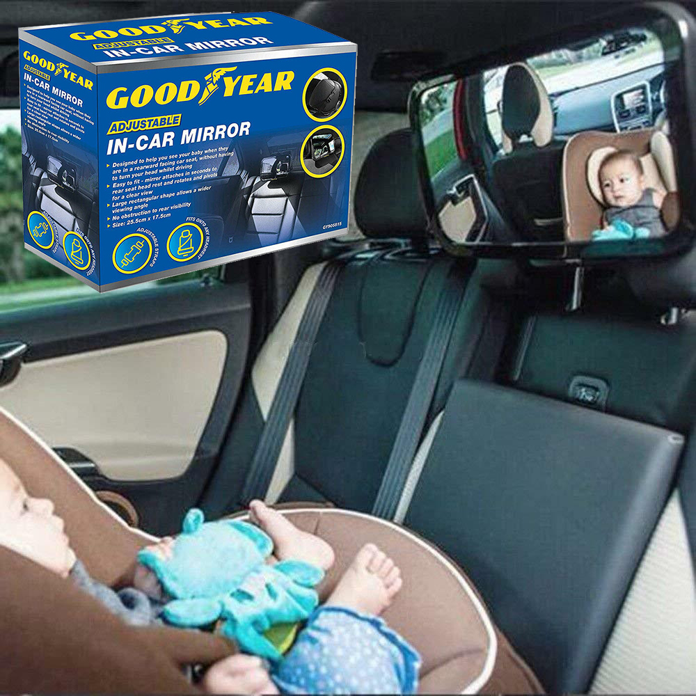 Car Seat Cover Baby Mirror Back for Toddler Kids Rear Ward Safety View UK
