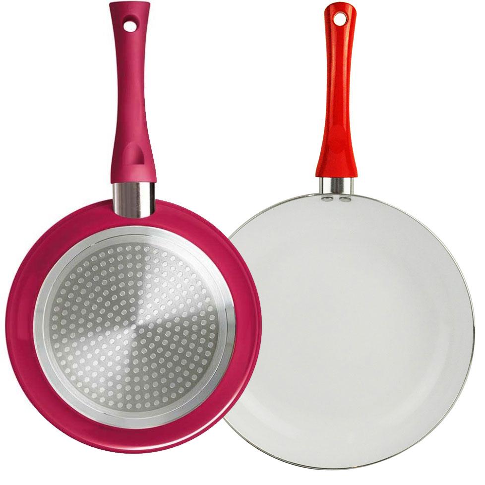 28cm Ceramic Non Stick Frying Pan Easy Clean Soft Grip