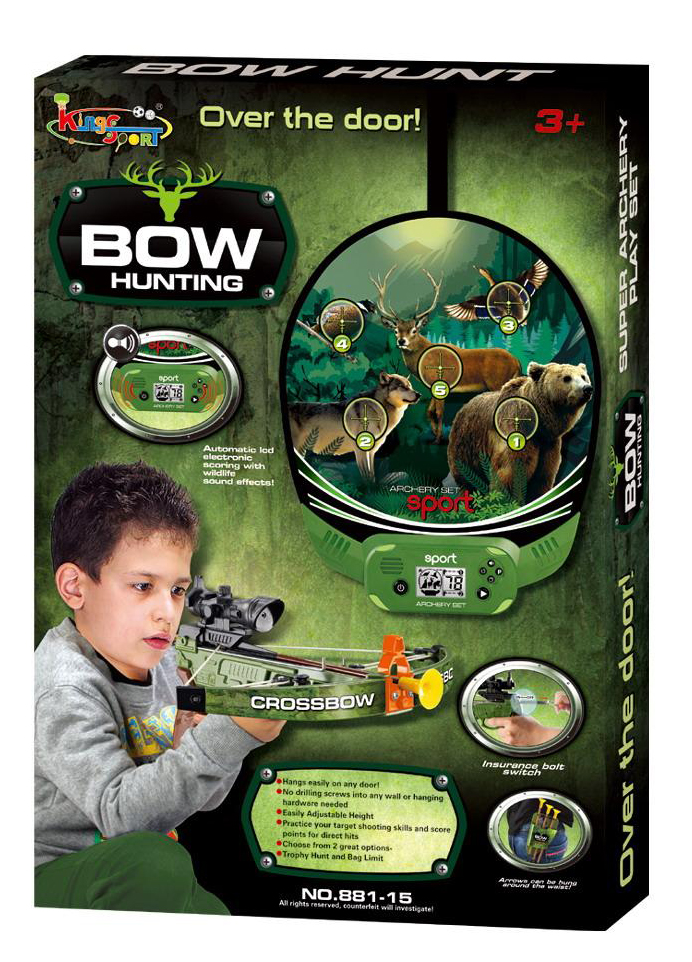 Hunting sport crossbow archery set shooting game with for Bow fishing games