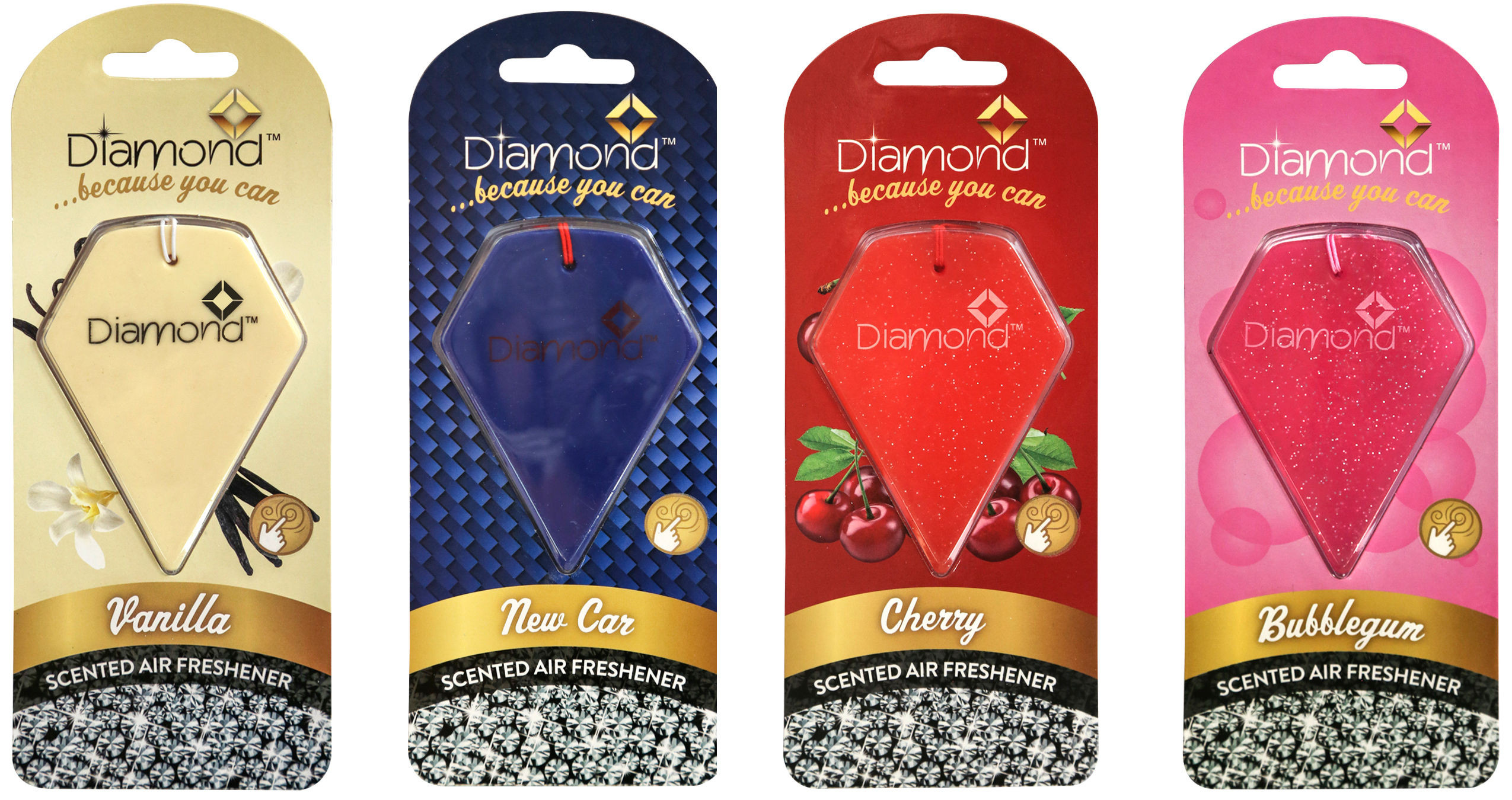 office air freshener. 4 Pack Diamond 2D Car Home Office Air Freshener Remove Odour Clean Fresh Smell