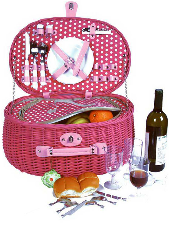 Wicker Basket Backpack : Luxury person english wicker willow picnic basket hamper