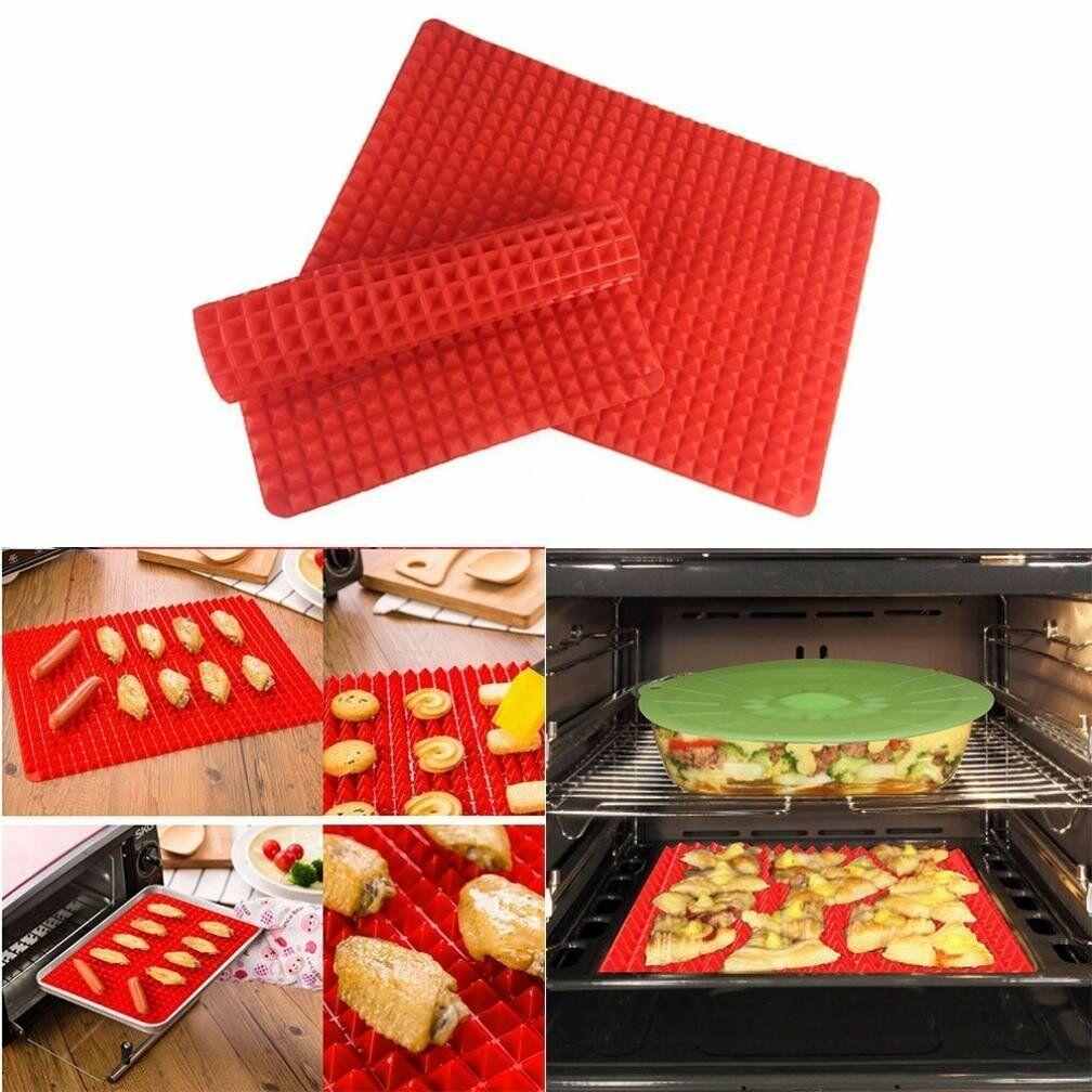 Pyramid Pan Non Stick Silicon Cooking Mat Oven Baking Tray Fat Reducing  29x41cm Home & Garden universitasfundacion Bakeware
