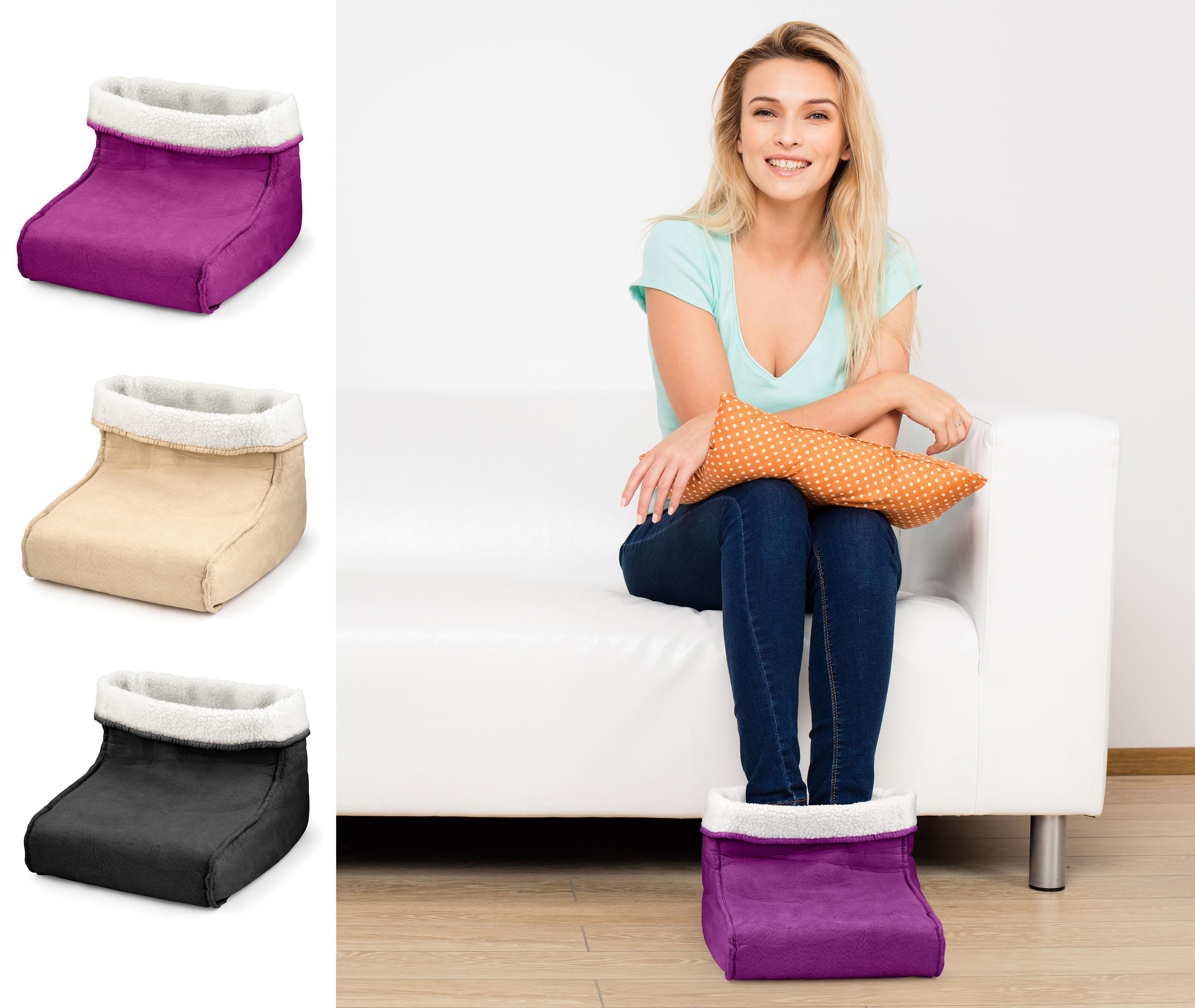 ELETTRICO piede più caldo e Massaggiatore rilassante massaggio rilassante piedi caldi in pelliccia sintetica