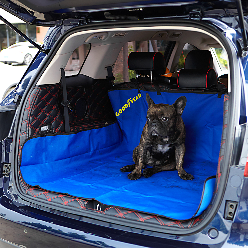 Goodyear Waterproof Car Boot Liner Pet Seat Cover Mat For Dogs Rear Back Trunk