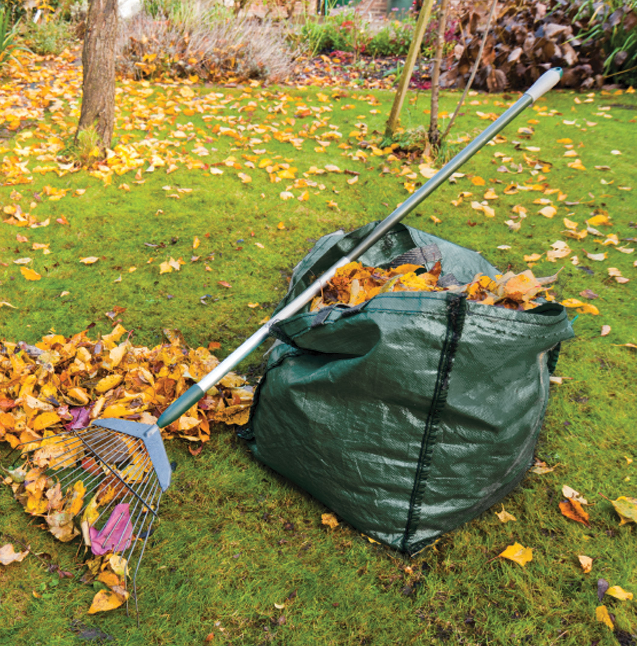 2 X 150l Garden Waste Bags Heavy Duty Large Refuse Storage Sacks With Handles Ebay