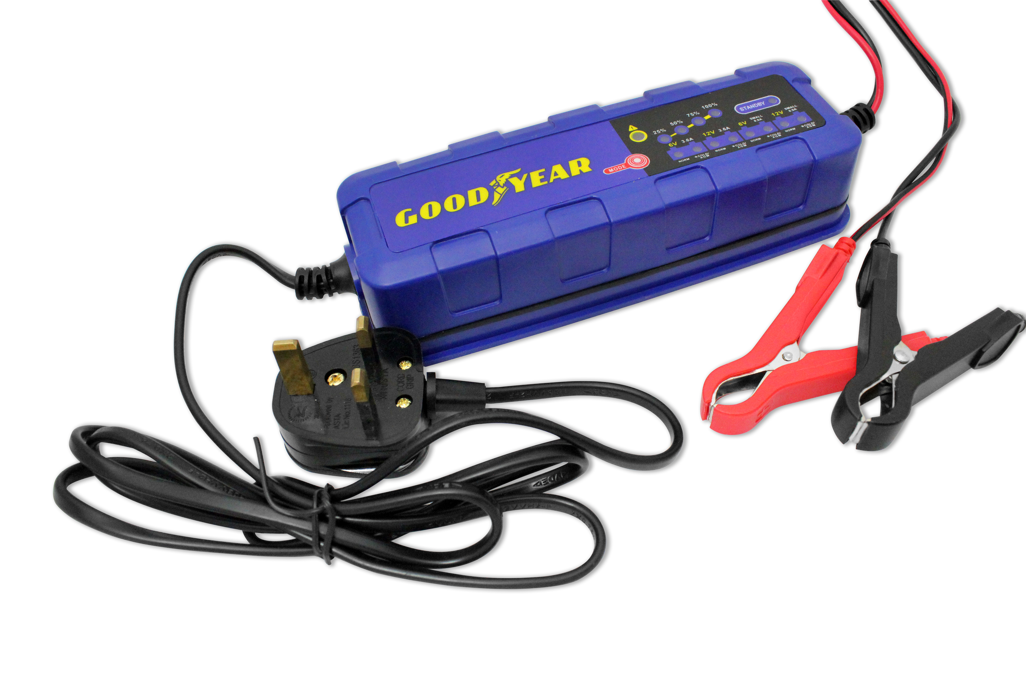 Goodyear Battery Charger Maintainer For 6v 12v Lead Acid And Gel By L200 Batteries Ebay