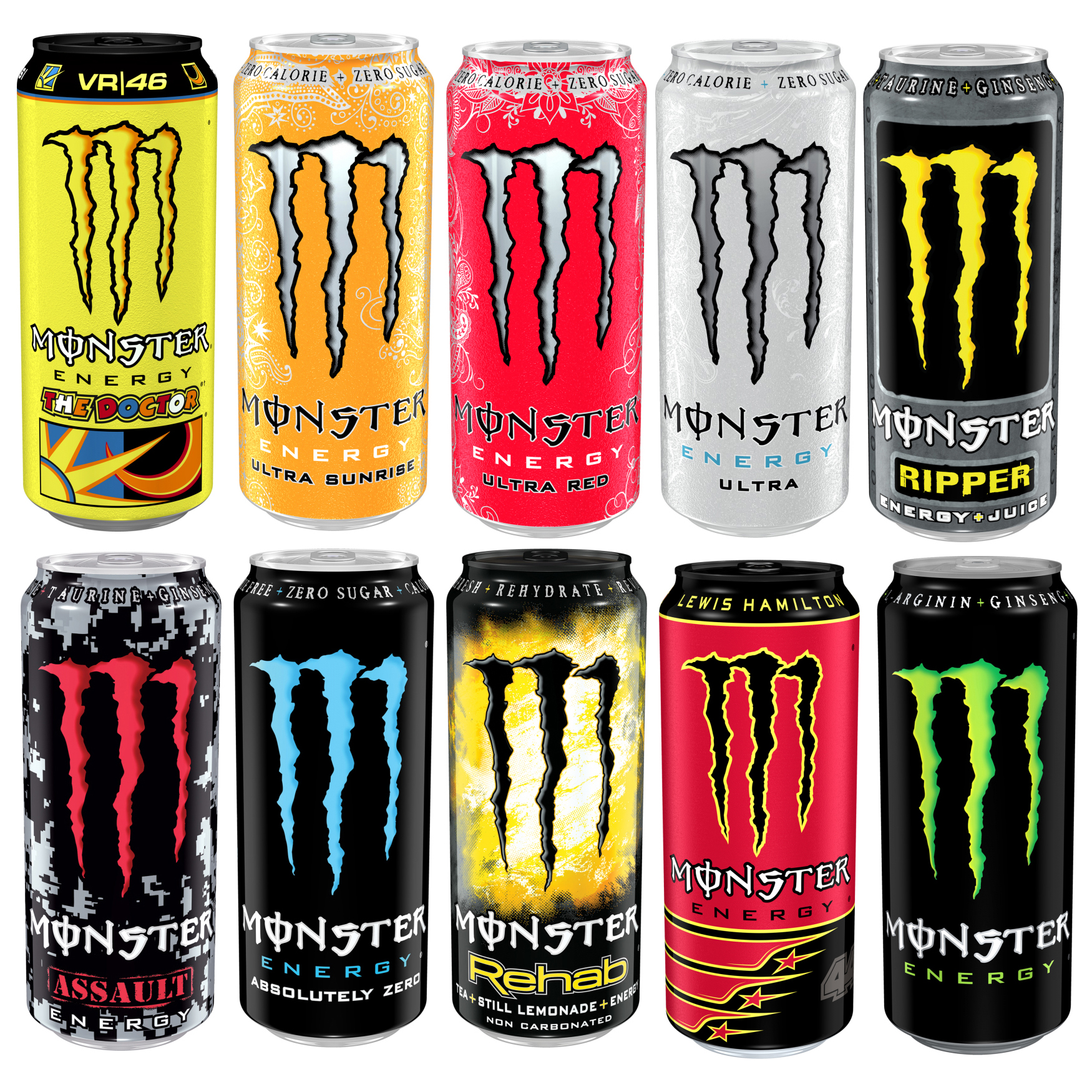 12x 500ml Cans Of Monster Energy Drink Refreshing