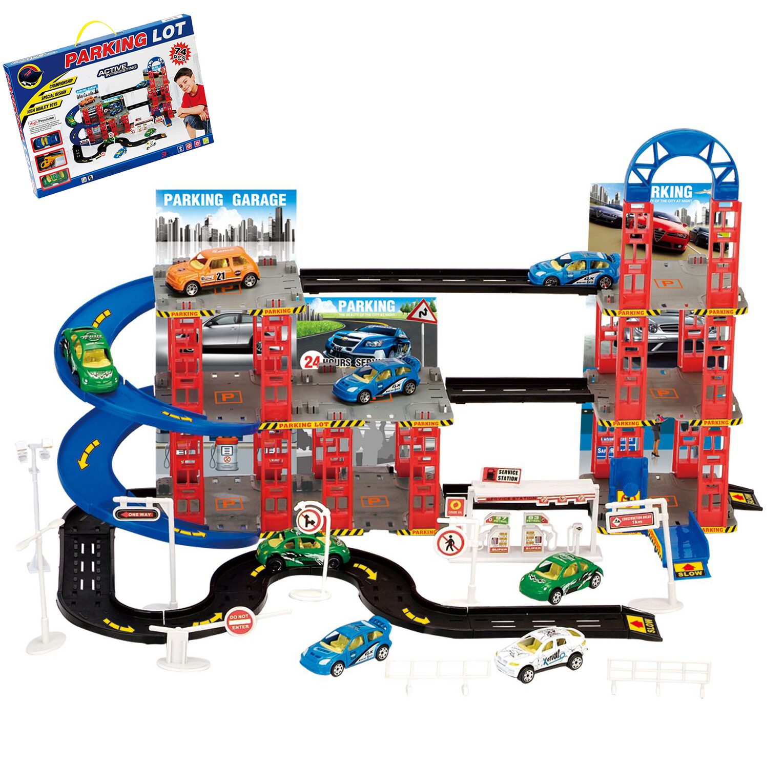 Toy car garage playset the image kid for Garage auto city cadaujac