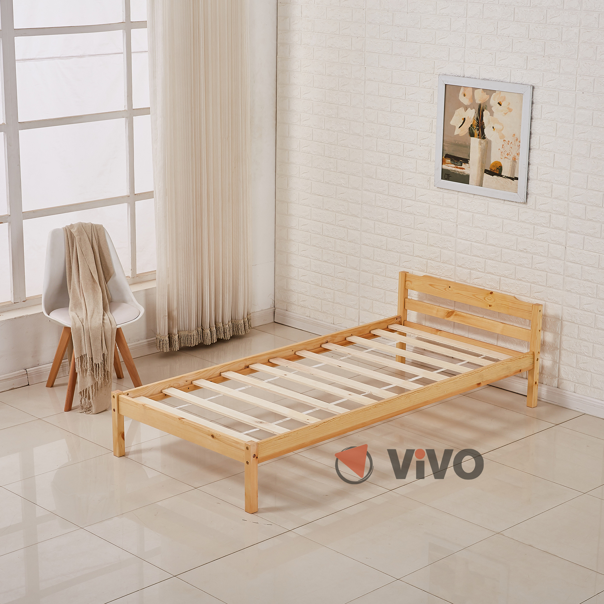 gorgeous flat wooden bed frame 9