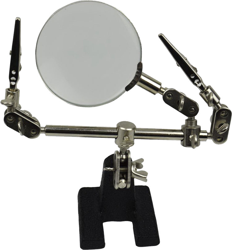 helping hand tool magnifying glass crocodile clips soldering iron craft kit new ebay. Black Bedroom Furniture Sets. Home Design Ideas