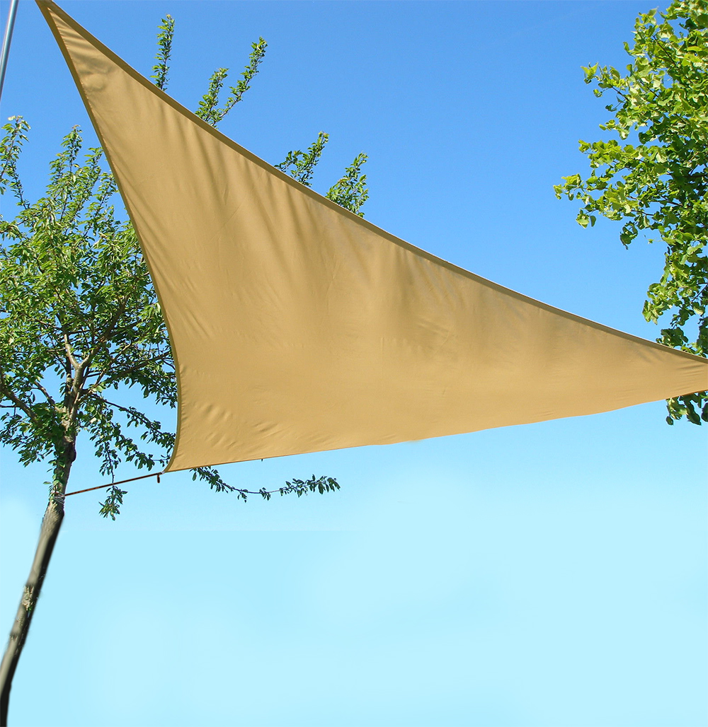 Triangle sail sun shade garden patio party sunscreen for Colorado shade sail