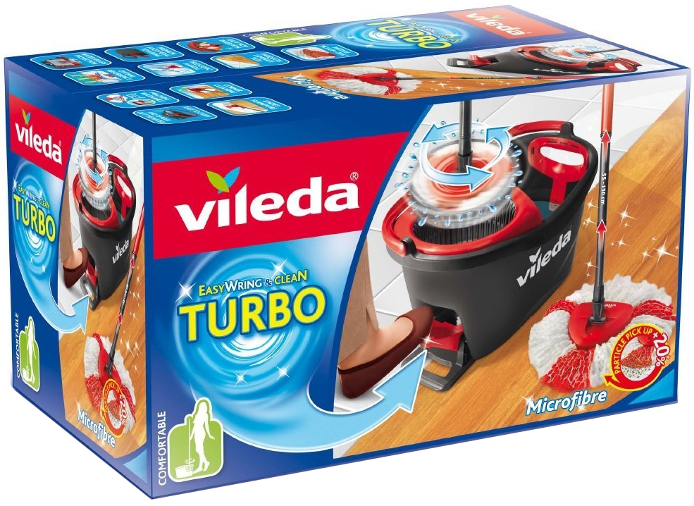 vileda easy wring and clean turbo mop and bucket set. Black Bedroom Furniture Sets. Home Design Ideas