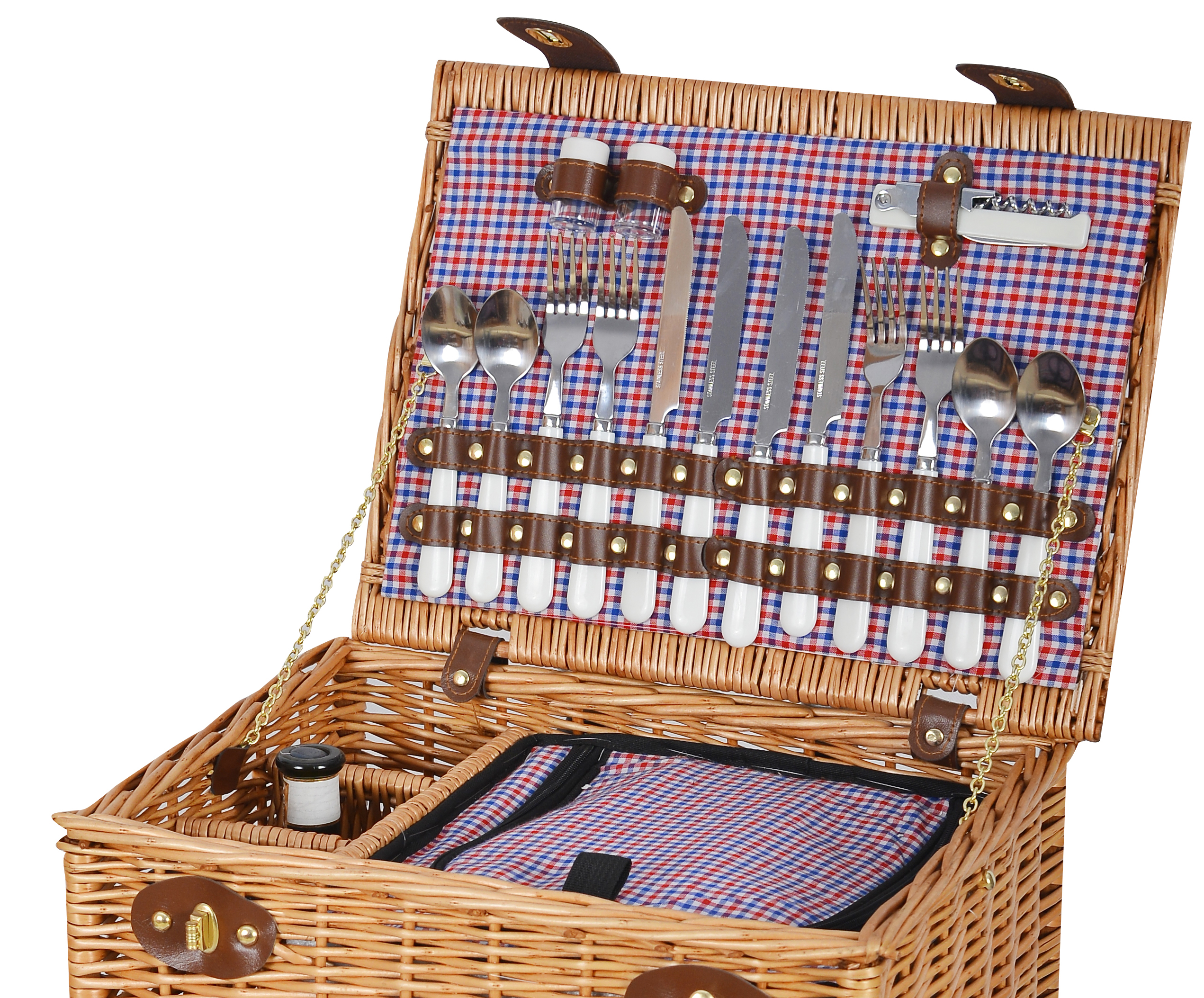 4 Person Picnic Basket Uk : Vivo luxury person english wicker willow picnic basket