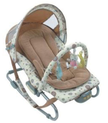 BABY BOUNCER ROCKER CHAIR WITH VIBRATION MUSIC TOYS IN PINK OR BLUE FOR GIRL/BOY