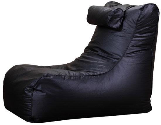 Xxl Relax Leather Beanbag High Back Head Rest Chair Gamer