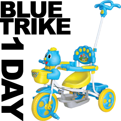 KIDS-BOYS-GIRLS-PARENT-HANDLE-TRIKE-TRICYCLE-SMART