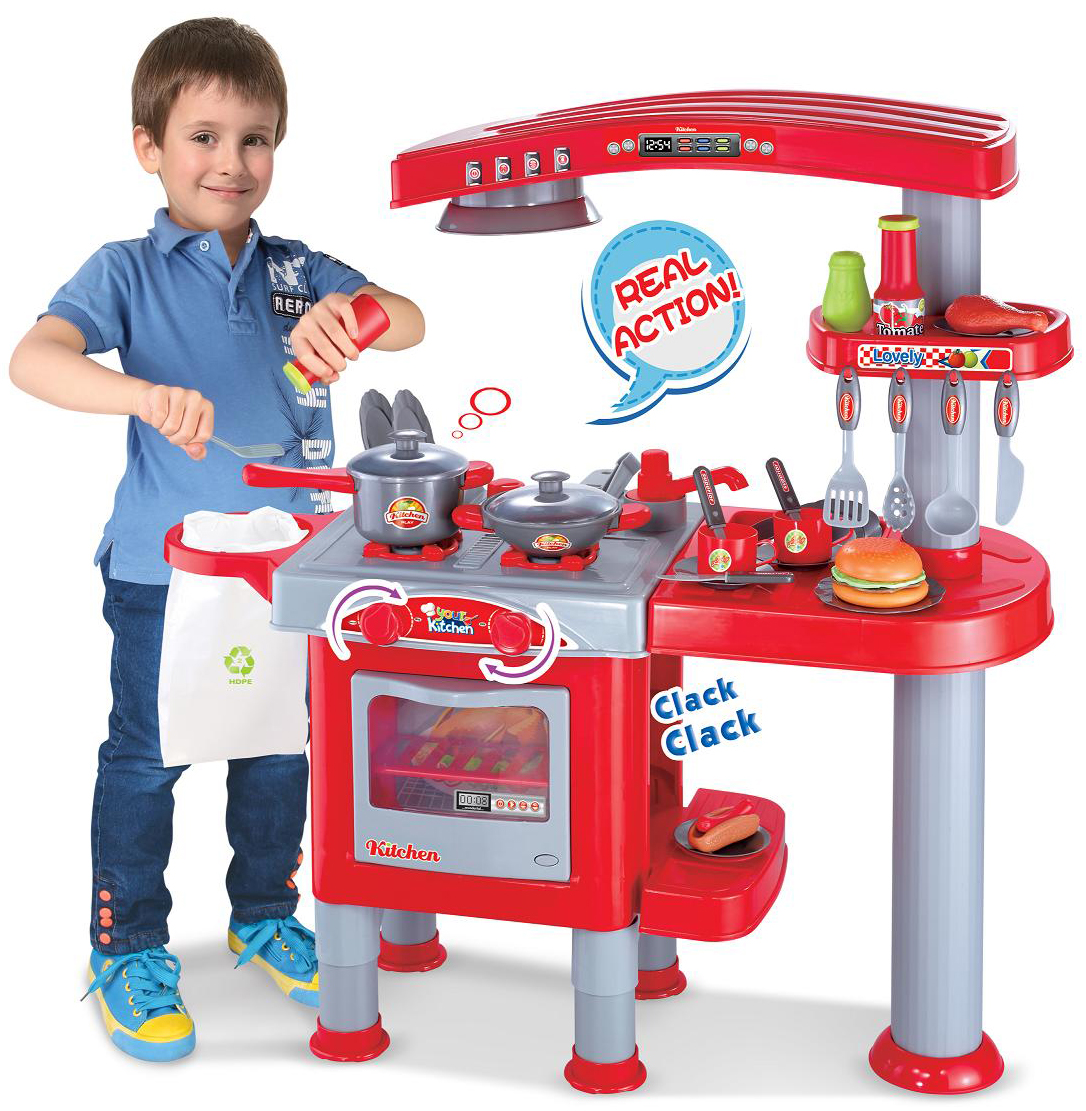 Children Kids Kitchen Cooking Doctor Supermarket BBQ Play Set DIY Tool