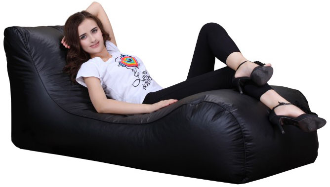 xxxl beanbag chaise leather lounger chair indoor outdoor garden sun bean bag ebay. Black Bedroom Furniture Sets. Home Design Ideas