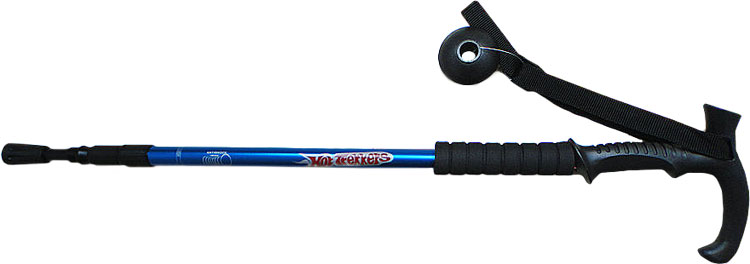 HOT-TREKKERS-ANTISHOCK-HIKING-WALKING-TREKKING-CANE-STICK-POLE-3-SECTION