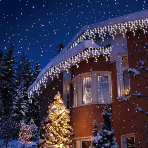 Christmas Outdoor Lights.Details About Christmas Led White Snowing Icicle Bright Party Wedding Xmas Outdoor Lights Nr