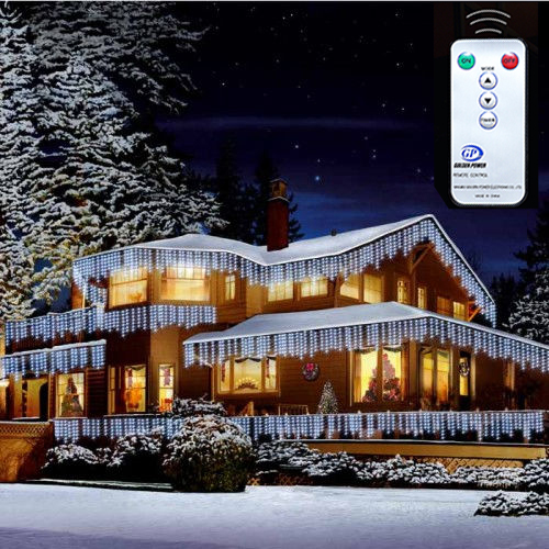 Christmas xmas bright led snowing icicle lights indoor outdoor house christmas xmas bright led snowing icicle lights indoor outdoor house tree white aloadofball