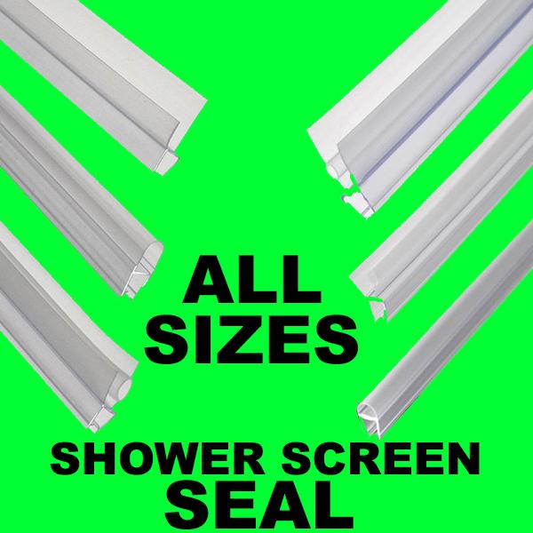 Bath Shower Screen Gap Seal Rubber Plastic Silicone Glass