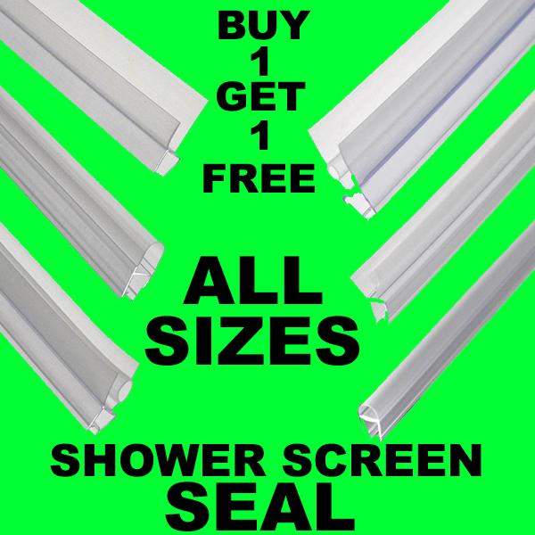 Bogof Bath Shower Screen Gap Seal Rubber Plastic Silicone