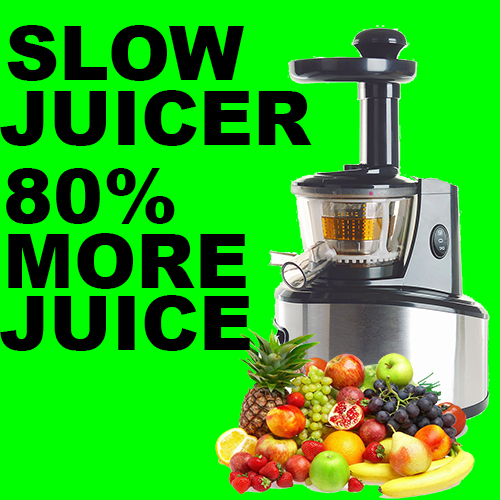 100 Gourmet Recipes For The Slow Juicer : UROM PROFESSIONAL SLOW FRUIT vEGETABLE JUICER EXTRACTOR ...
