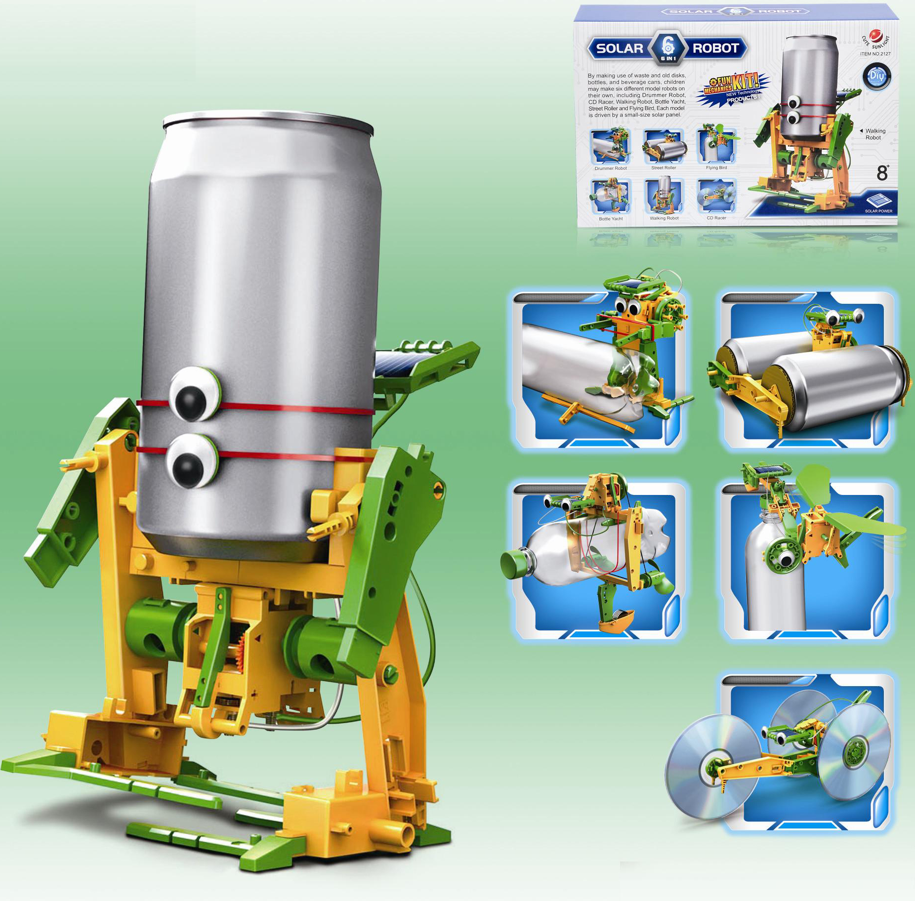 6 In 1 Educational Assembly Solar Power Robot Construction