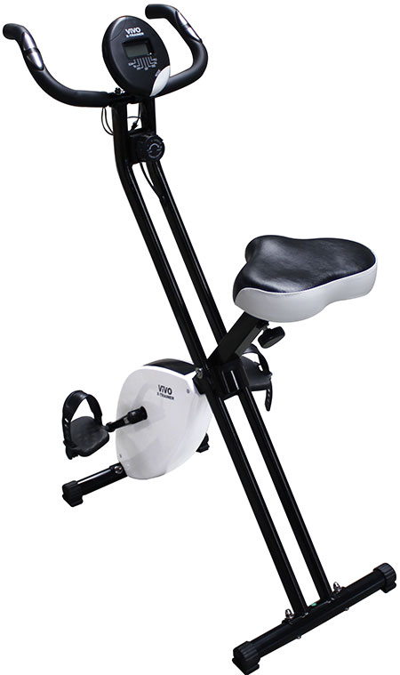 Foldable Magnetic Exercise X Bike Fitness Cardio Workout Weight Loss Machine New Ebay