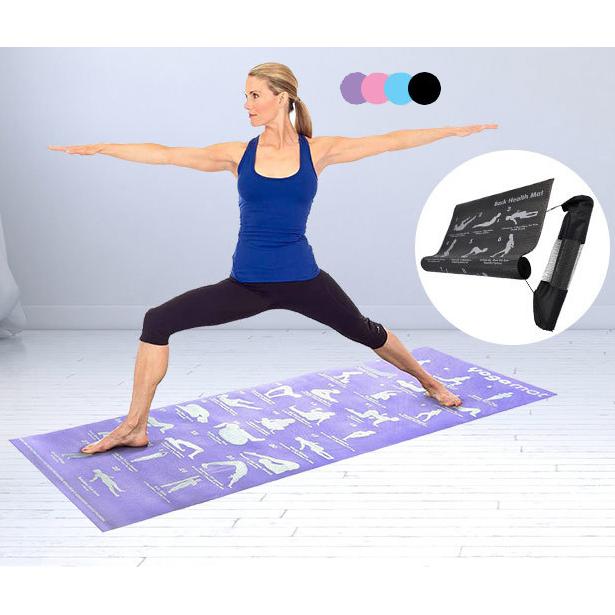 Yoga Exercise Fitness Workout Mat Physio Pilates Festivals